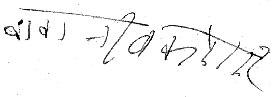 Maharajji's signature