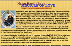 Maharajji's Original Global Web Site, 1999